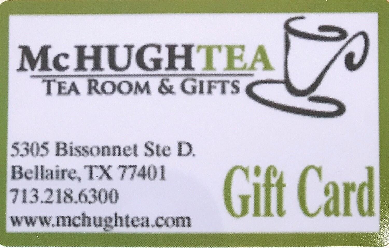 McHughTEA Gift Certificate
