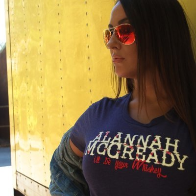 Ladies Crew Neck T - Western Whiskey Logo