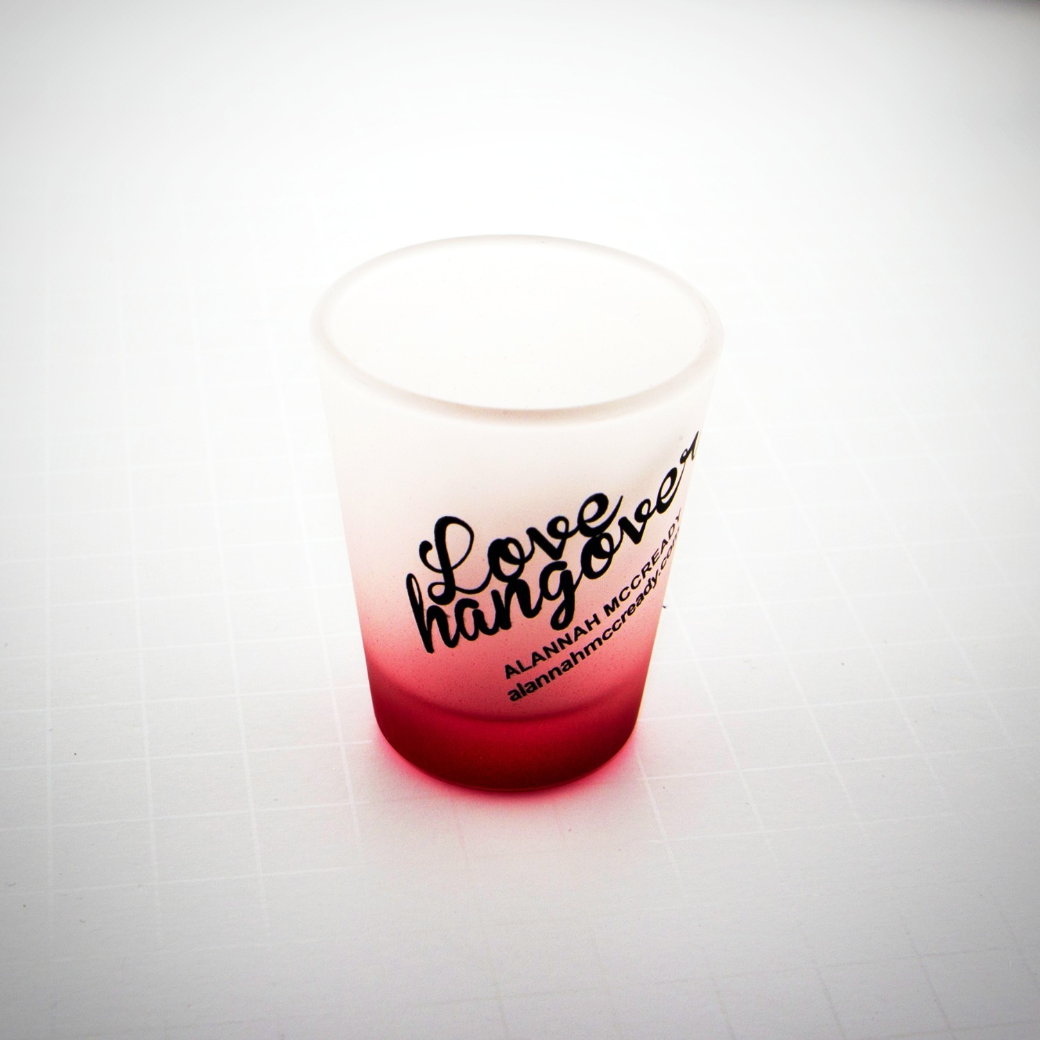 Shot Glass - Love Hangover Logo