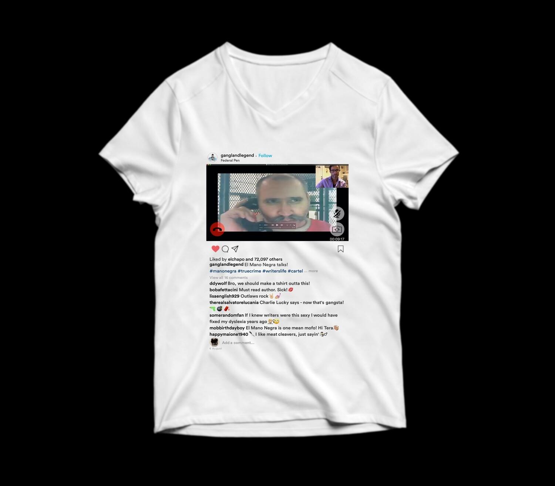 Women's V-Neck Mano Negra Insta Shirt