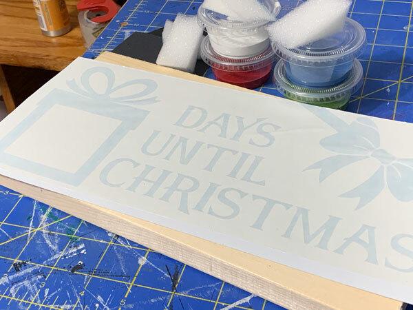 Countdown to Christmas Chalkboard DIY Wood Sign