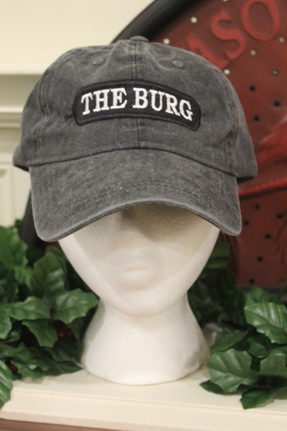 The Burg Hat in gray or rose