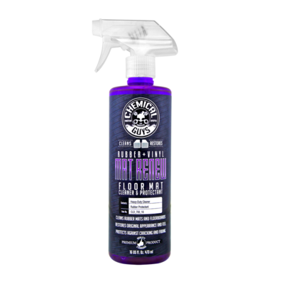 Chemical Guys Mat ReNew Rubber + Vinyl Floor Mat Cleaner and Protectant 16 oz.