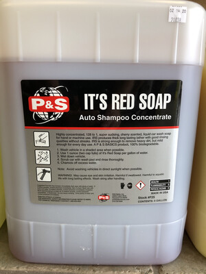 P&S IRS Foaming Auto Shampoo 5 Gallon