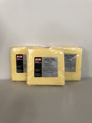 P&S Extreme Performance Microfiber Towel (Yellow) - 4 Pack