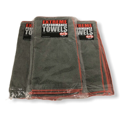 P&S Extreme Performance Microfiber Towels (Gray) - 4 Pack