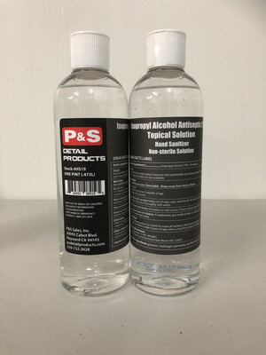 P&S Hand Sanitizer (FDA Approved) - Isopropyl Alcohol Antiseptic 75% Topical Solution- 16 Oz.