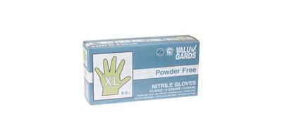 Powder Free Disposable Nitrile Gloves - XL (100)