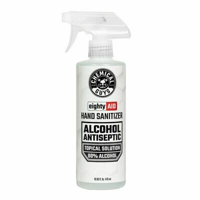 Chemical Guys EightyAID Hand Sanitizer Alcohol Antiseptic 80% Topical Solution - 16 Oz.