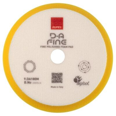 Rupes DA Yellow Fine Foam Pad - 7 Inch