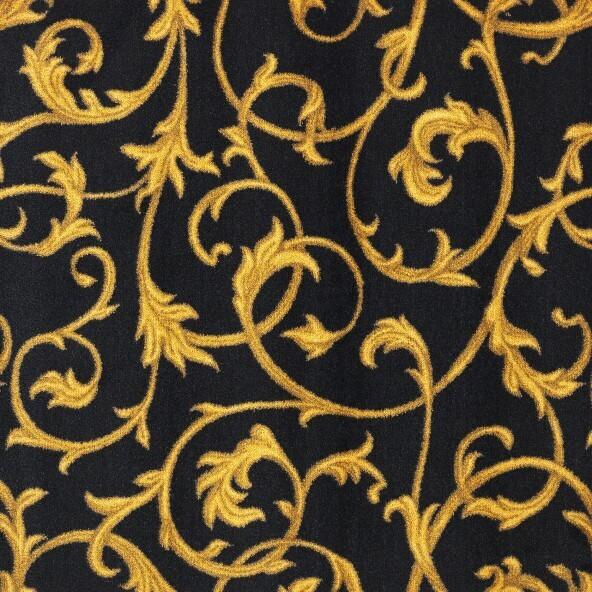 Joy Carpet Acanthus Black 185.6 sq ft REMNANT