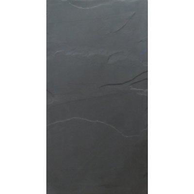 "12"" x 24"" Black Natural Slate Floor Tile"