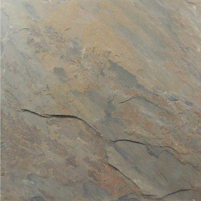 """12"""" x 12"""" California Gold Natural Slate Floor Tile"""