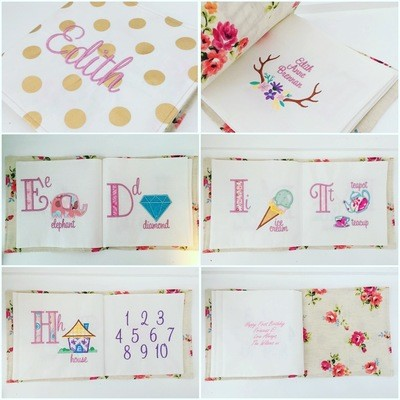 Custom Name Cloth Book