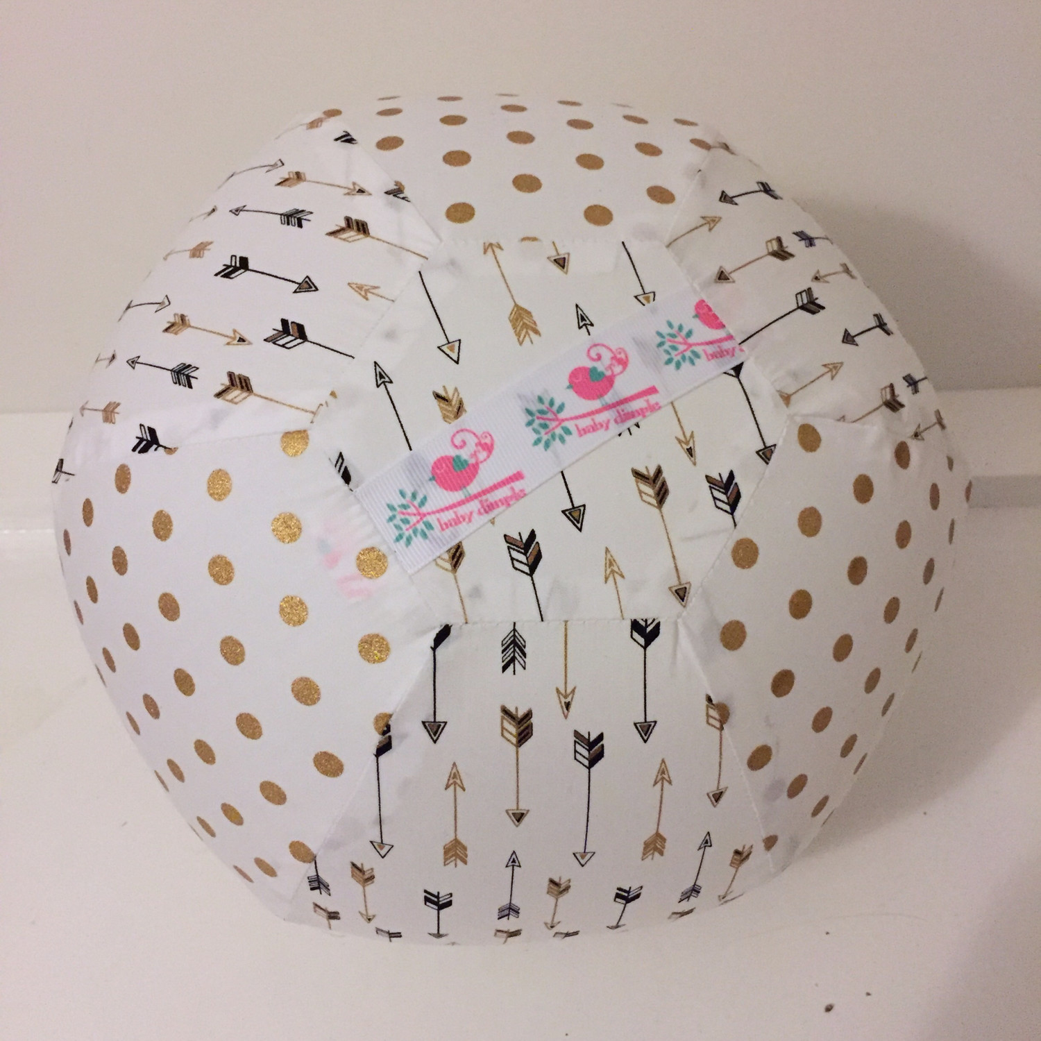Gold Arrow Dot BallOon Ball