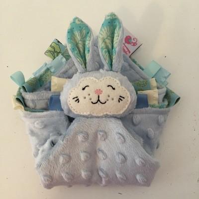 Ice Blue Paisley Snuggie Bunny