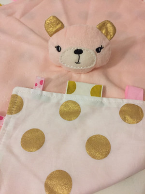 Light Pink Gold Snuggie Bear