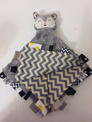 Grey Chevron Snuggie Fox