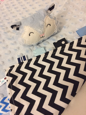 Ice Blue Chevron Snuggie Fox