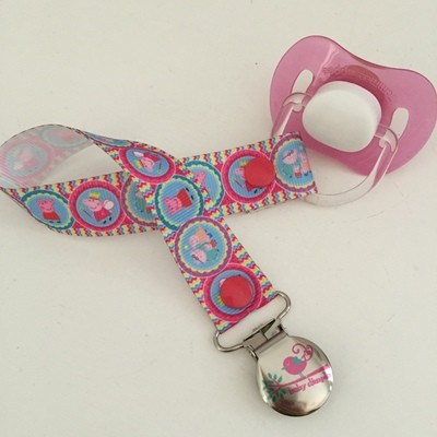 Chevron Pepper Pig Dummy Clip
