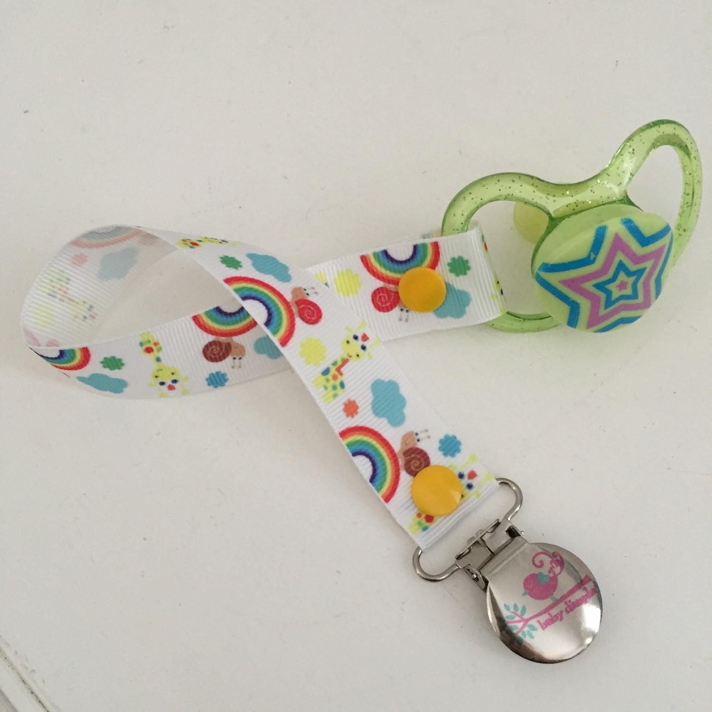 Rainbow Giraffe Dummy Clip