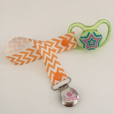 Orange Chevron Dummy Clip