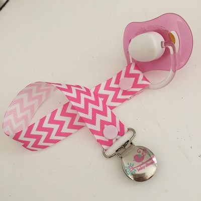 Pink Chevron Dummy Clip