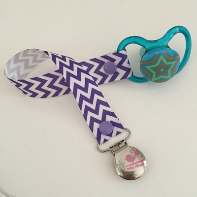 Purple Chevron Dummy Clip