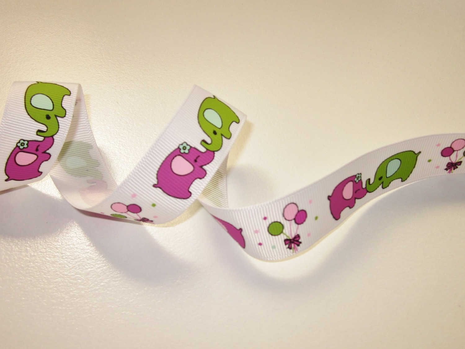 Purple & Green Elephants Dummy Clip