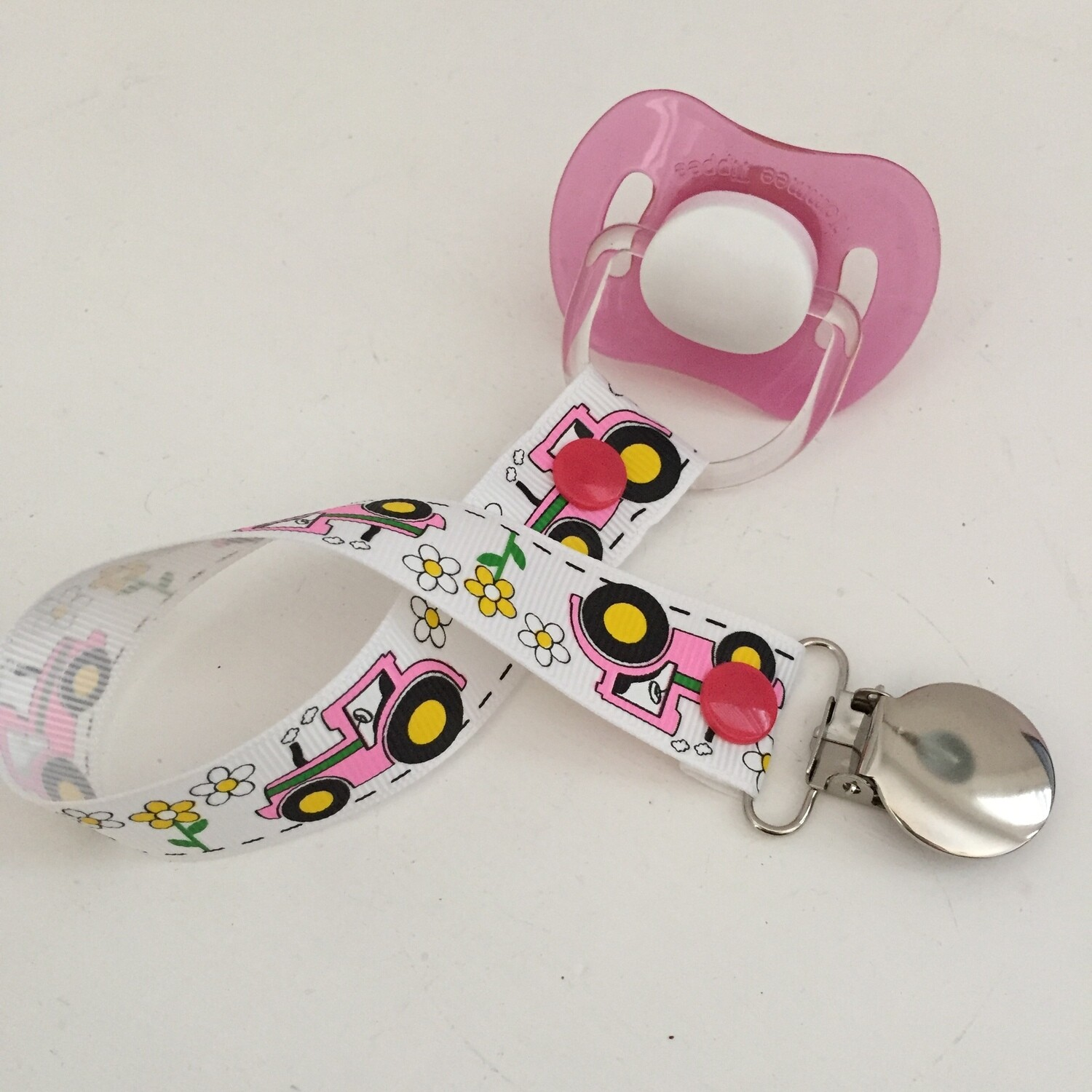 Pink Tractor Dummy Clip