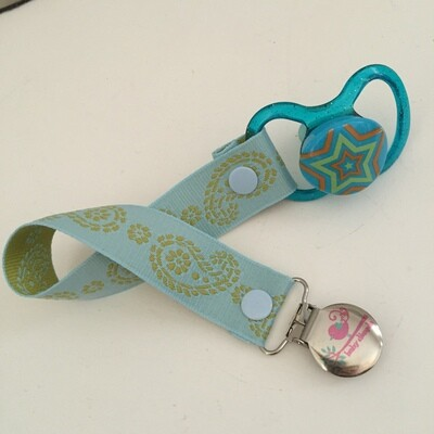 Blue Green Damask Dummy Clip