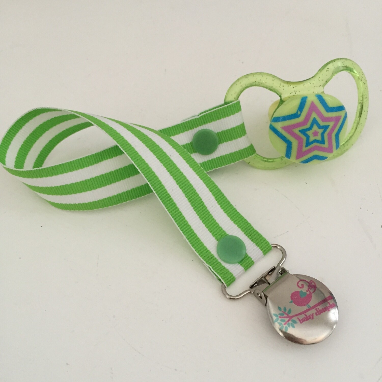 Green Stripe Dummy Clip