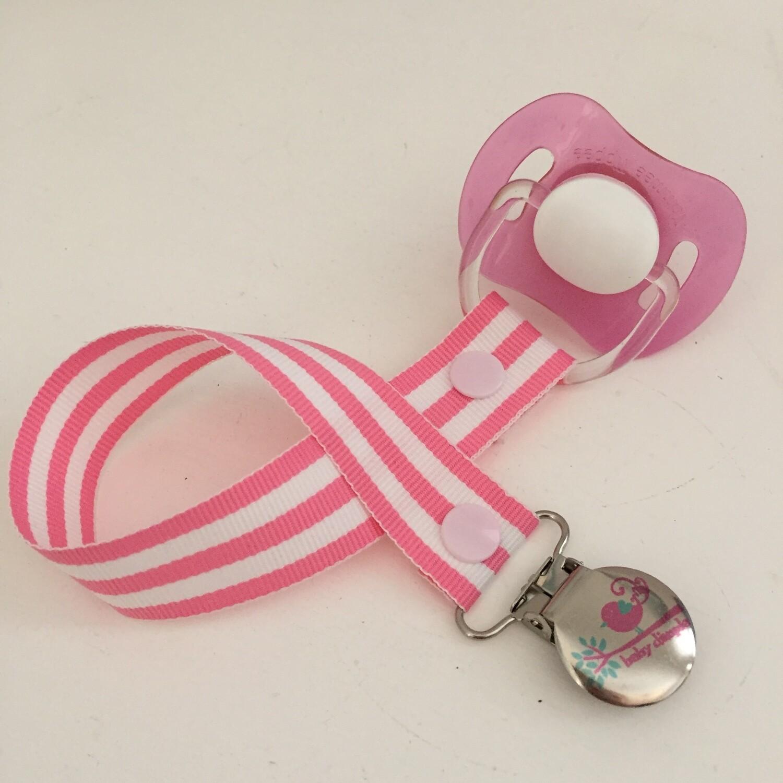Pink Stripe Dummy Clip