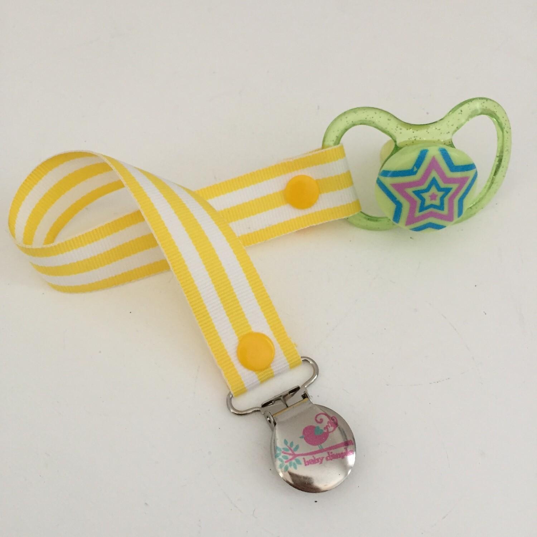 Yellow Stripe Dummy Clip