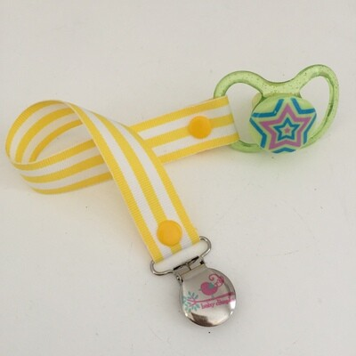 Yellow Stripe Dummy Clip