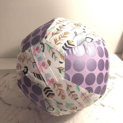 Purple Feathers BallOon Ball
