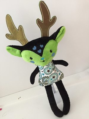 Custom Reindeer Softie