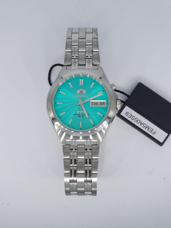 reloj hombre automático Orient Tristar FEM5A00SE verde