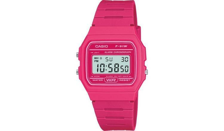RELOJ digital Casio rosa PINK F-91WC-4A UNISEX CASIO