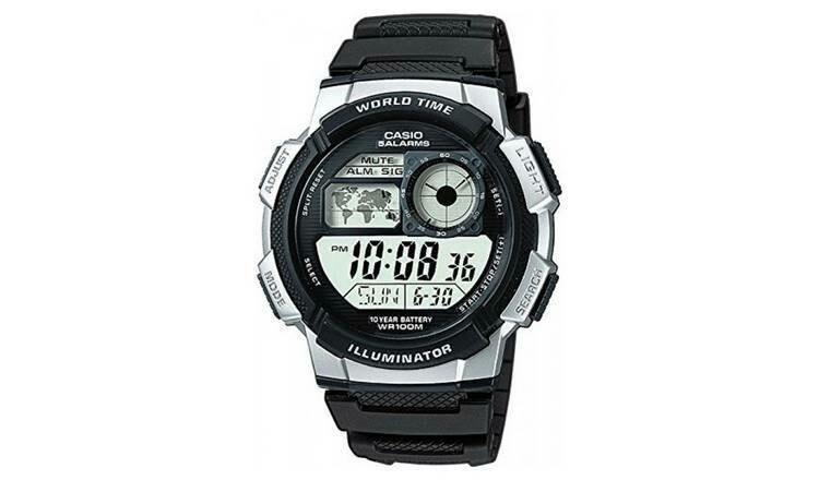 Reloj Casio collection Digital AE-1000w-1a2 Hora Mundial - 5 Alarmas - 10 BAR
