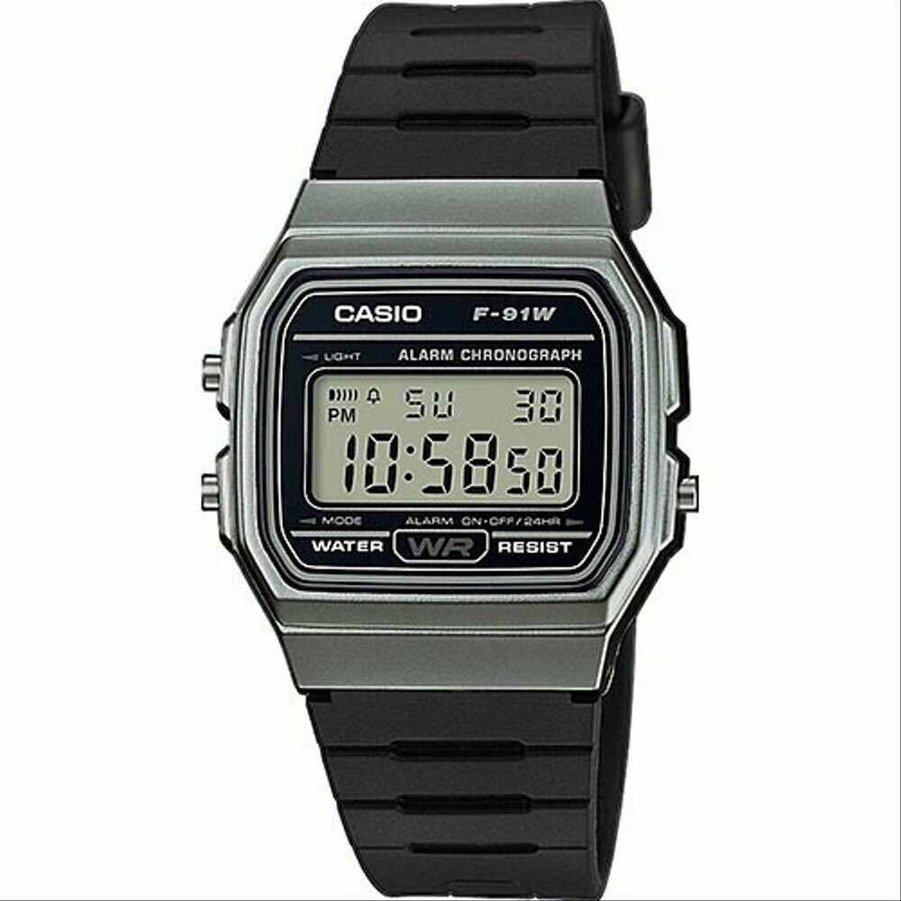 Reloj retro CASIO F-91WM-1BD 100% original