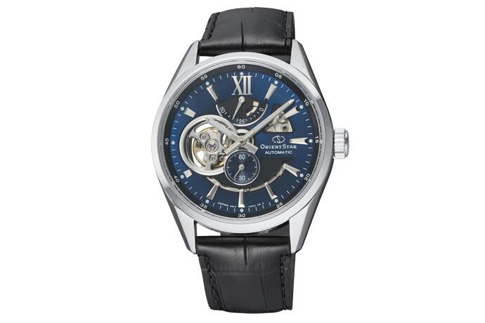 Reloj Automático Hombre Orient Star Skeleton RE-AV0005L zafiro correa cuero