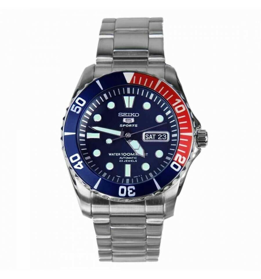 Reloj Automático Hombre Seiko 5 Neosports SNZF15K1 buzo acero
