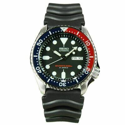 Reloj Automático hombre Seiko SKX009J1 Pepsi buceo correa goma