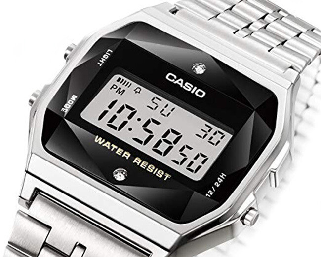 Reloj CASIO Vintage A159WAD-1D DIAMONDS Acero Inoxidable edicion diamonds