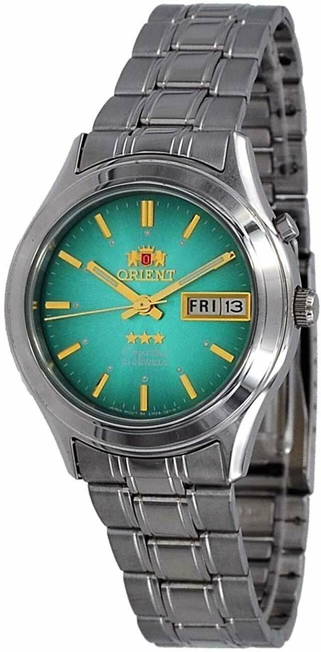 Reloj hombre automático Orient 3 Star FEM0301ZF VERDE correa acero