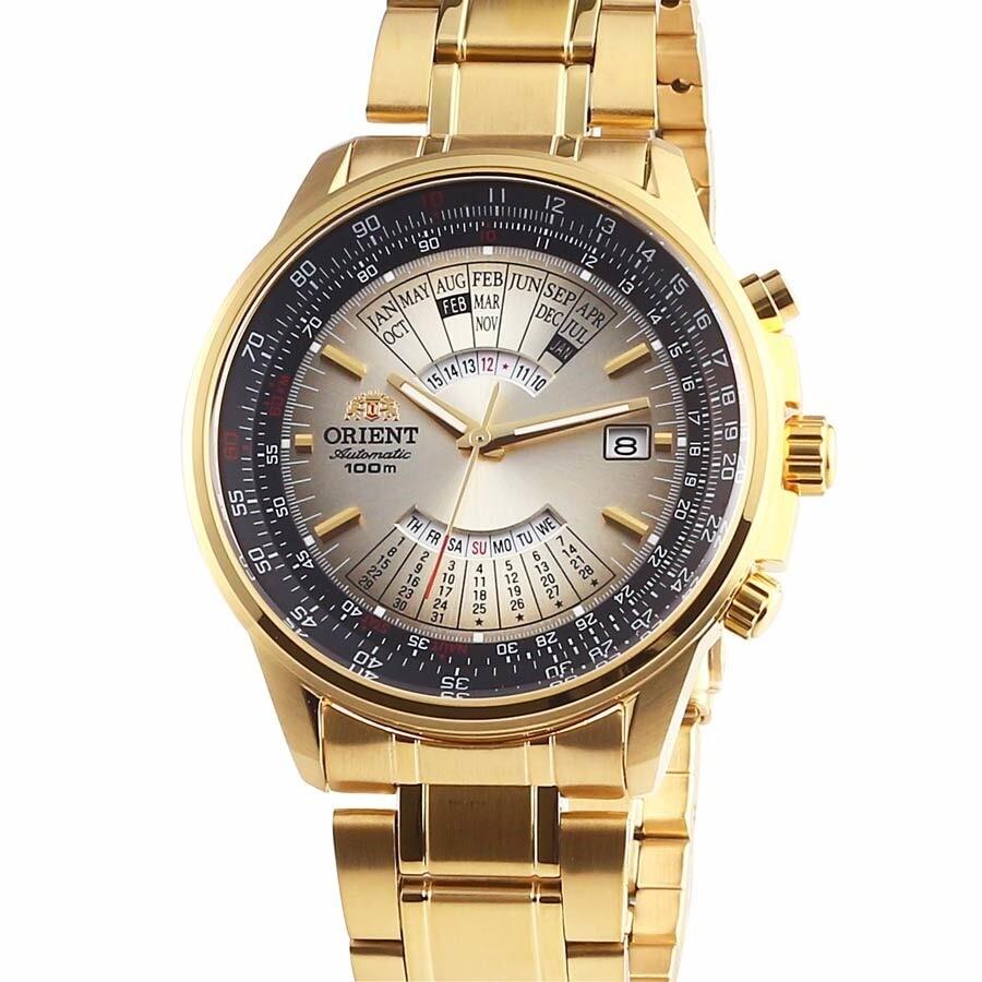 reloj hombre automático Orient multi-year FEU07004U dorado