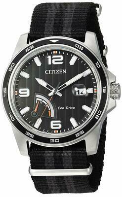 Reloj Hombre Citizen Eco-Drive AW7030-06E Men's Power Reserve Indicator Black 42mm Watch correa tela