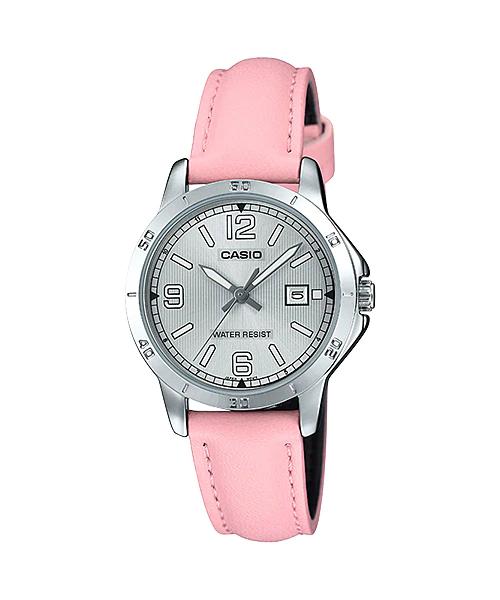 Reloj CASIO analogico ltp-v004l-4b pink silver