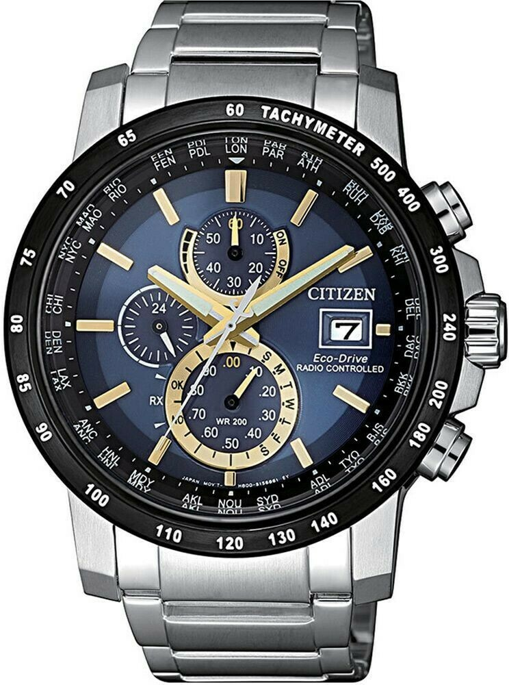 Reloj Hombre Citizen Men's Eco-Drive AT8124-83M Radio Controlled Chronograph 43.5mm Watch